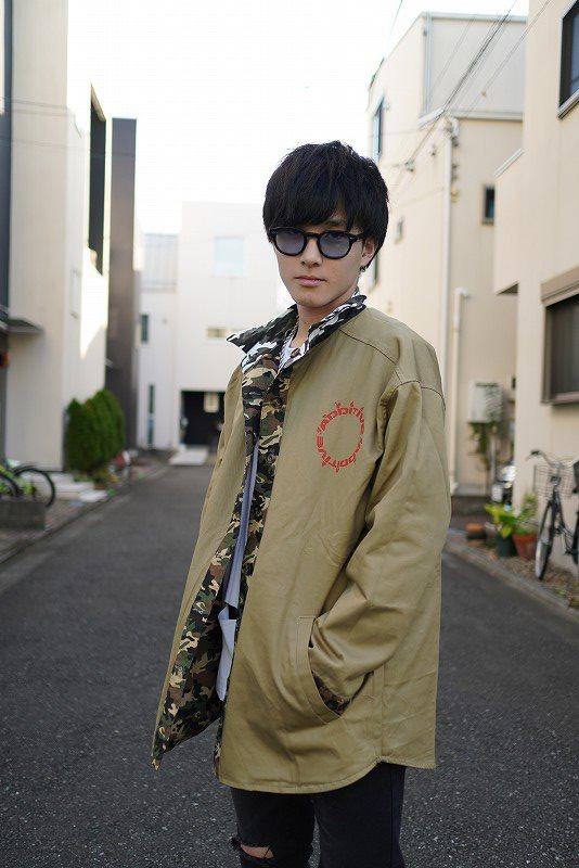 リバーシブルOBACHAN'Sパッチワークレオパードカモフラ長袖シャツジャケットの画像3
